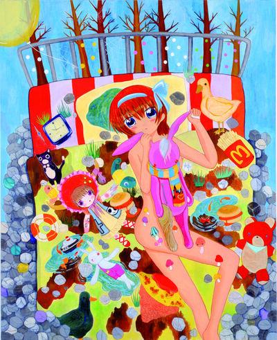 Mahomi Kunikata, 'On the Bedsheet', 2008