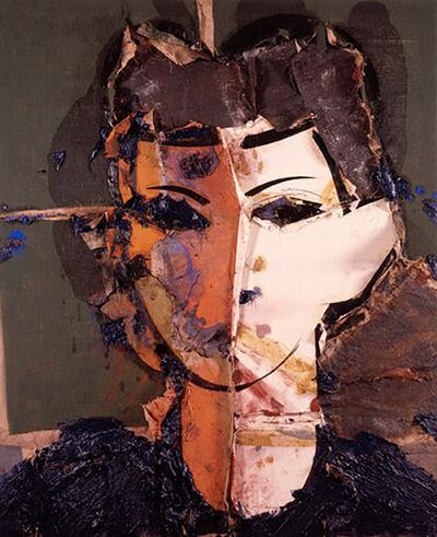 Manolo Valdés, 'Retrato con Medio Rostro Naranja', 2007