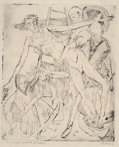 Max Beckmann, 'Kreuzabnahme', 1918