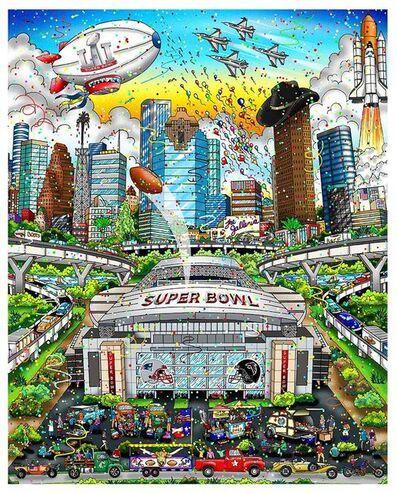 Charles Fazzino, 'Super Bowl LI - Houston 2017 - Aluminum ', 2017