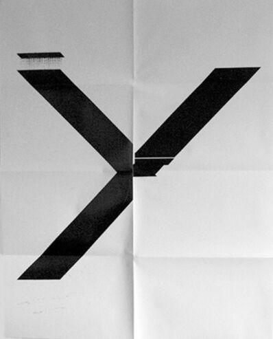 Wade Guyton, 'X Poster (Untitled, 2007, Epson UltraChrome inkjet on linen, 84 x 69 in, WG1211)', 2019