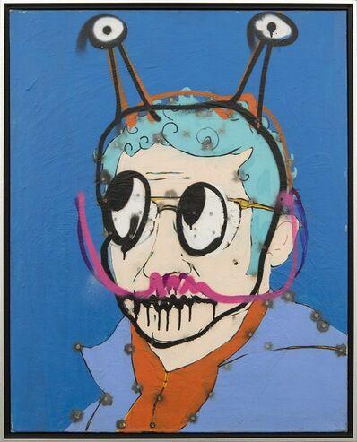 Viktor Mitic, 'Self Portrait (Selfie) - graphic, pop-art, acrylic painting on canvas', 2020