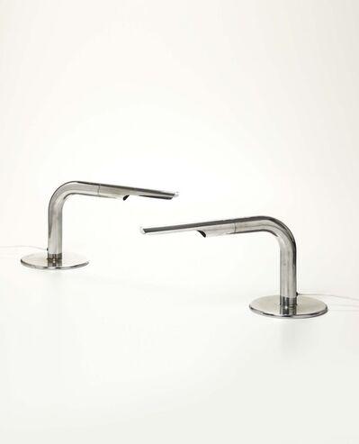 Ingo Maurer, 'A pair of Gulp lamps in chromed metal', 1970 ca.