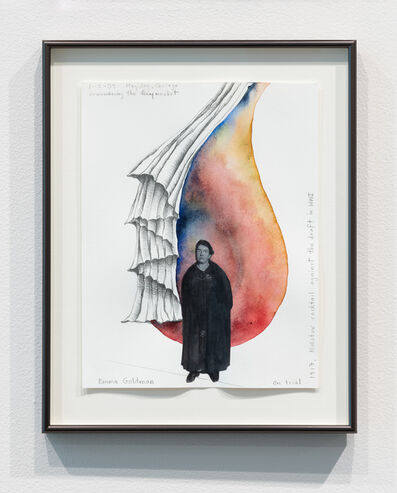 Faith Wilding, 'Remembering the Haymarket (Emma Goldman with Molotov Cocktail)', 2009
