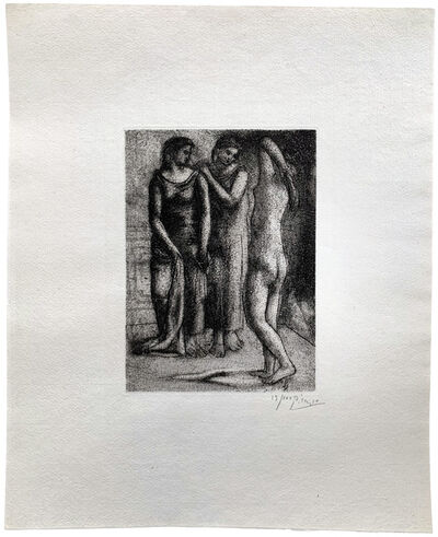 Pablo Picasso, ' Groupe de trois Femmes (6th and final state)', 1922/23