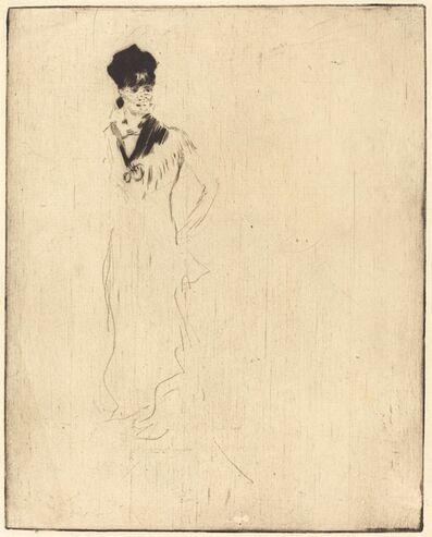 Norbert Goeneutte, '(Sketch of a Young Lady in Violet (Esquisse de jeune femme a la violette)'