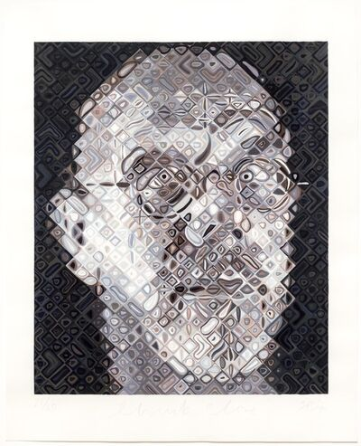 Chuck Close, 'Self-Portrait Woodcut', 2007