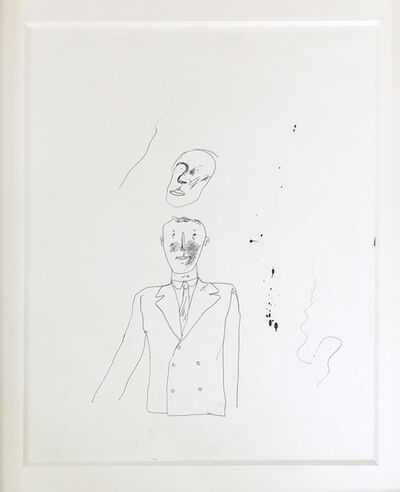 David Hockney, 'Ink on Paper drawing of Peter Crutch ', 1962