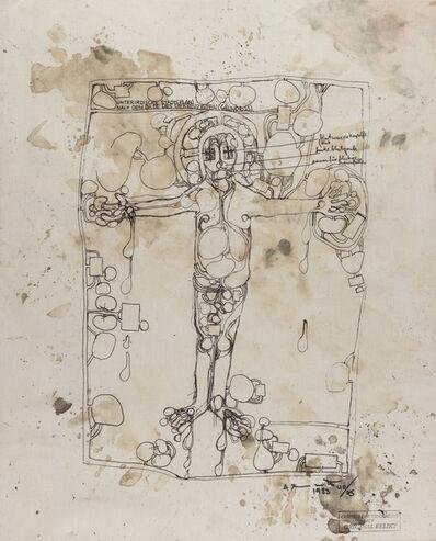 Hermann Nitsch, 'Christus der Widdergott auf Original Relikt', 1983