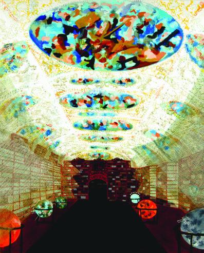 """Michiko Itatani, '""""Cosmic Sleepwalk"""" Painting from HyperBaroque CS-1', 2007"""