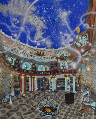 "Michiko Itatani, '""Blackbox"" painting from Celestial Connection 17-B-9', 2017"
