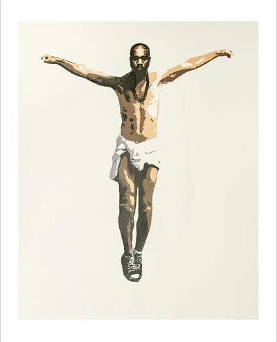 "Plastic Jesus, 'The New Messiah"" – Acrylic Stencil on Paper', 2017"