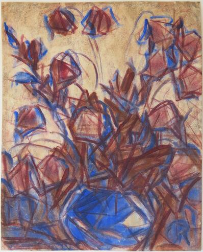 Christian Rohlfs, 'Bouquet in blue vase', 1925