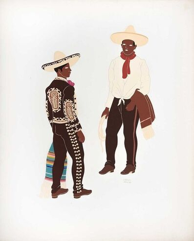 Carlos Merida, 'Charros from the States of Hidalgo, Jalisco, Puebla, and the Federal District', 1941