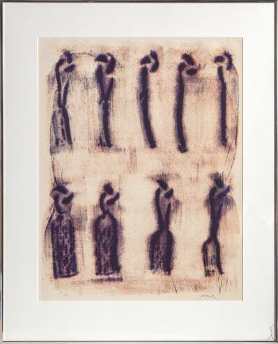 Christian Jaccard, 'Fils Noir Sur le Rouge', 1970