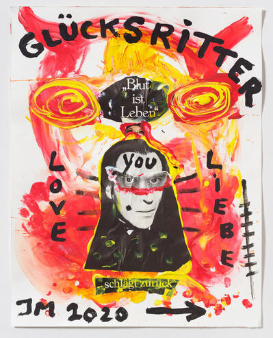 Jonathan Meese, ''MEESE SOLDIER OF FORTUNE DE L.O.V.E.!', ', 2020