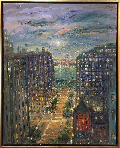 Bruno Zupan, '73rd Street, View to Hudson River ', 2017