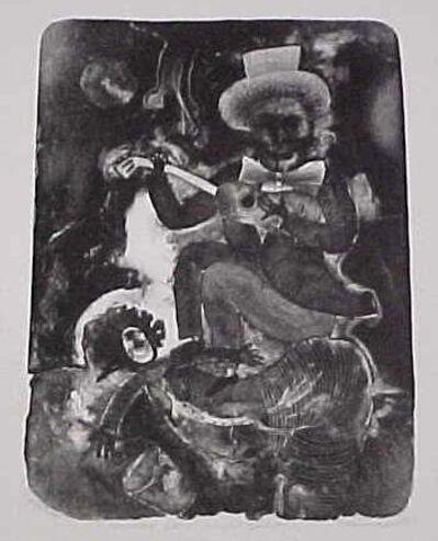 Maximino Javier, 'Músico sobre mujer cíclope ', 1997