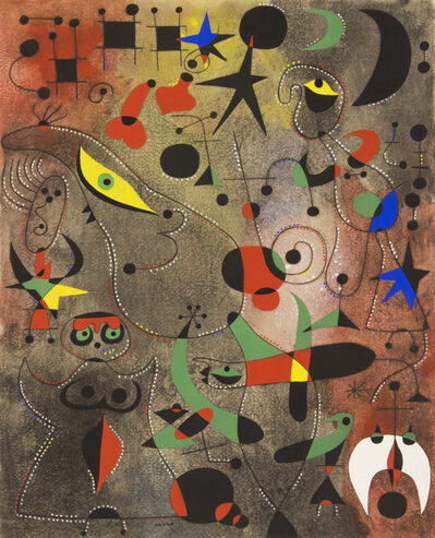 Joan Miró, 'Chiffres et constellations amoureux d'une femme (plate 19) Awakening in the Early Morning ', 1959