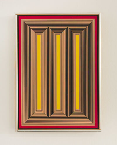 Richard Anuszkiewicz, 'Temple of Yellow Light II', 1984