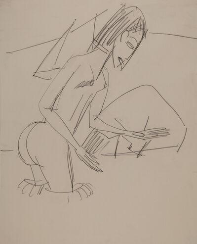Ernst Ludwig Kirchner, 'Badende im Meer bei Fehmarn', ca. 1913