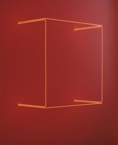 Stephen Antonakos, 'Red Square Neon Off the Wall', 1973