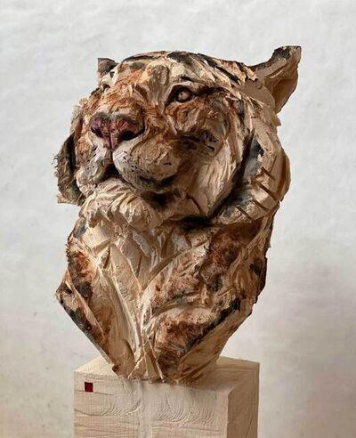 Jürgen Lingl-Rebetez, 'Buste de tigre', 2020