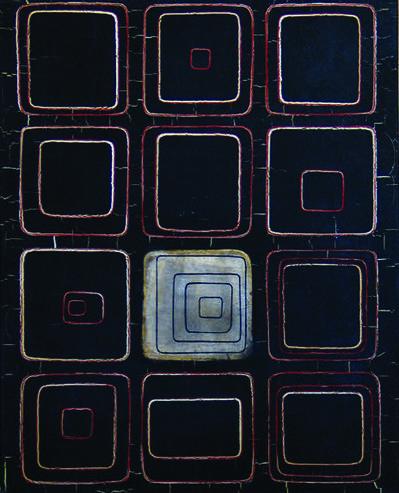 Elda Cerrato, 'Serie de las comunicaciones. Homenaje a los sistemas de comunicación', 1966