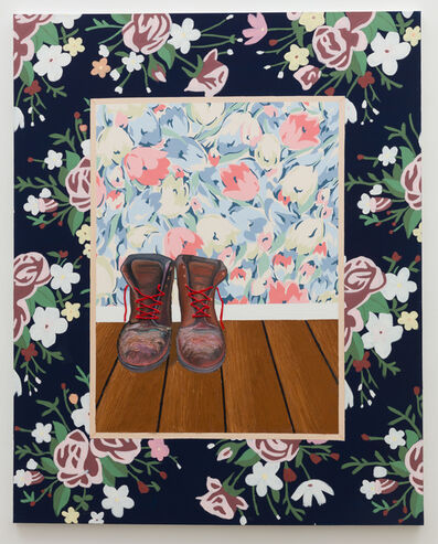 Alec Egan, 'Painting of Boots on Wall in Blonde Frame', 2018