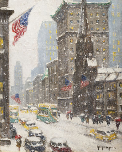Guy Carleton Wiggins, 'Winter at 57th St and Fifth Avenue', 1948