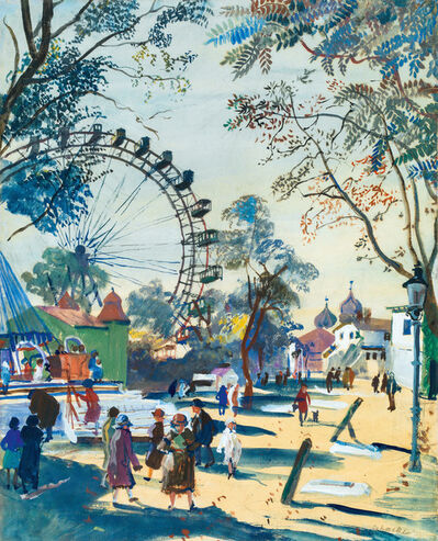 Oskar Laske, 'Wiener Prater and the Ferris Wheel', ca. 1930