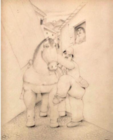 Fernando Botero, 'Homme et cheval', ca. 1980
