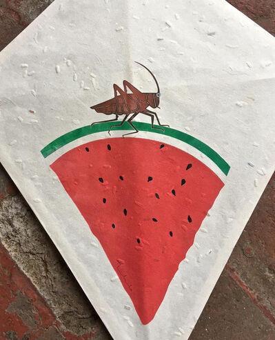 Francisco Toledo, 'Small watermelon kite V', 2017