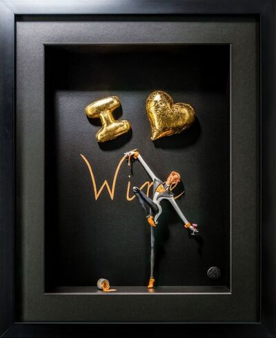 Kunst met een R, 'I love Wine Gold ', 2020