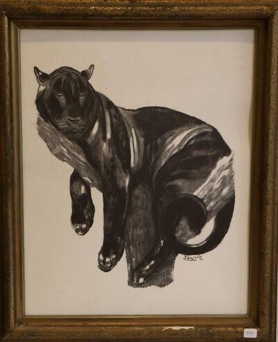 Paul Jouve, ''Panther Perched', by Paul Jouve, Art Deco', ca. 1930