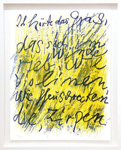 Günther Uecker, 'Ich hörte das Gras', 2008