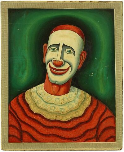 Maurice Kish, 'Clown,  Early 20th Century Playful Oil Painting on Board', Early 20th Century