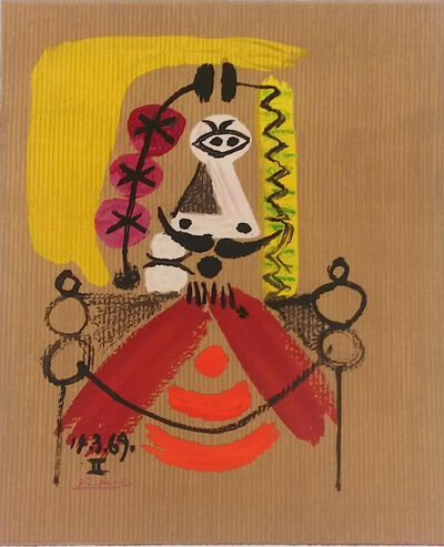 """Pablo Picasso, 'Series of """"Imaginary portraits"""", about the kings of Spain """" 14.3.69 - II""""', 1971"""