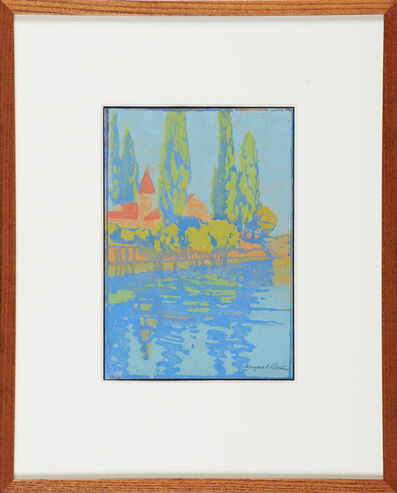 Margaret Jordan Patterson, 'Untitled (Cypresses Along the Water)'