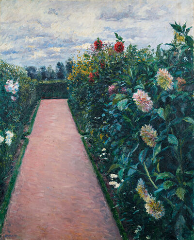 Gustave Caillebotte, 'Garden Path with Dahlias in Petit Gennevilliers', 1890-1891