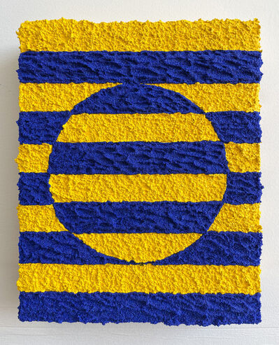 Carlos Rosales-Silva, 'Border Exchange Studies (Yellow & Blue)', 2021