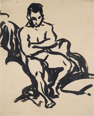 Ernst Ludwig Kirchner, 'Sitzender männlicher Akt', ca. 1908