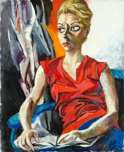 Renato Guttuso, 'Ritratto di Genni De Ponti', 1960