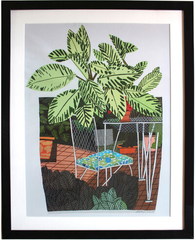 Jonas Wood, 'Landscape Pot with Flower Chair poster', 2016