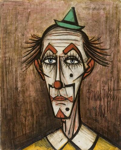 Bernard Buffet, 'Clown au petit chapeau vert', 1989