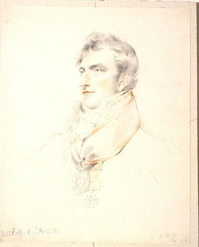 George Henry Harlow, 'Portrait of Sir Robert Hall', 1816