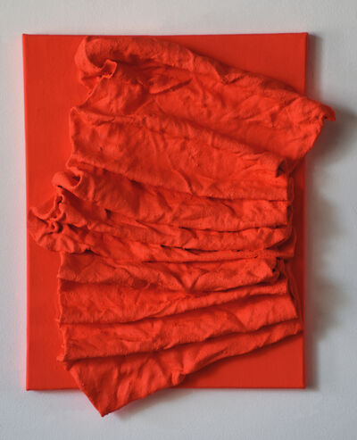 Chloe Hedden, 'Fluorescent Fire Red Folds', 2018