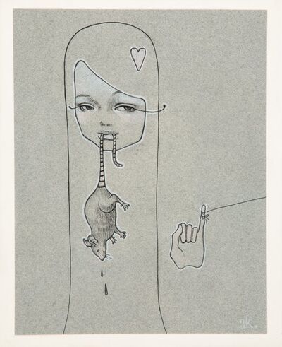 Audrey Kawasaki, 'Girl with Rat', 2005