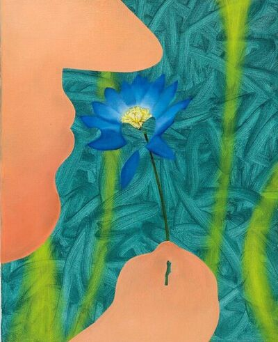 Paris Giachoustidis, 'BLUE FLOWER IN MICROWELT OF TECHNOLOGY', 2021