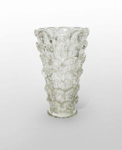 Ercole Barovier, 'A crystal vase with petals', 1938